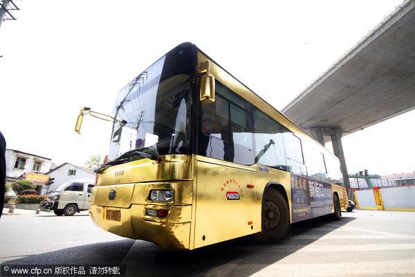 bus en or a nanjing Chine