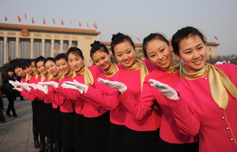 Hotesses de l'air à Pekin