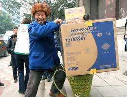 Les campagnes chinoises s'équipent en électroménager