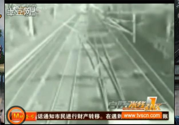 Insolite l'homme près du train en Chine