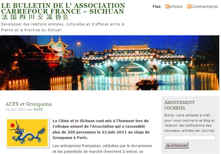L'Association Carrefour FRANCE – SICHUAN