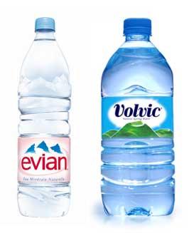 Volvic Evian une Crise pour les marques d'eaux françaises