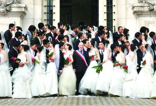 Les chinois et le mariage «à la française»