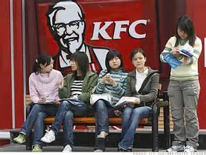 La nourriture en Chine et les marques étrangères