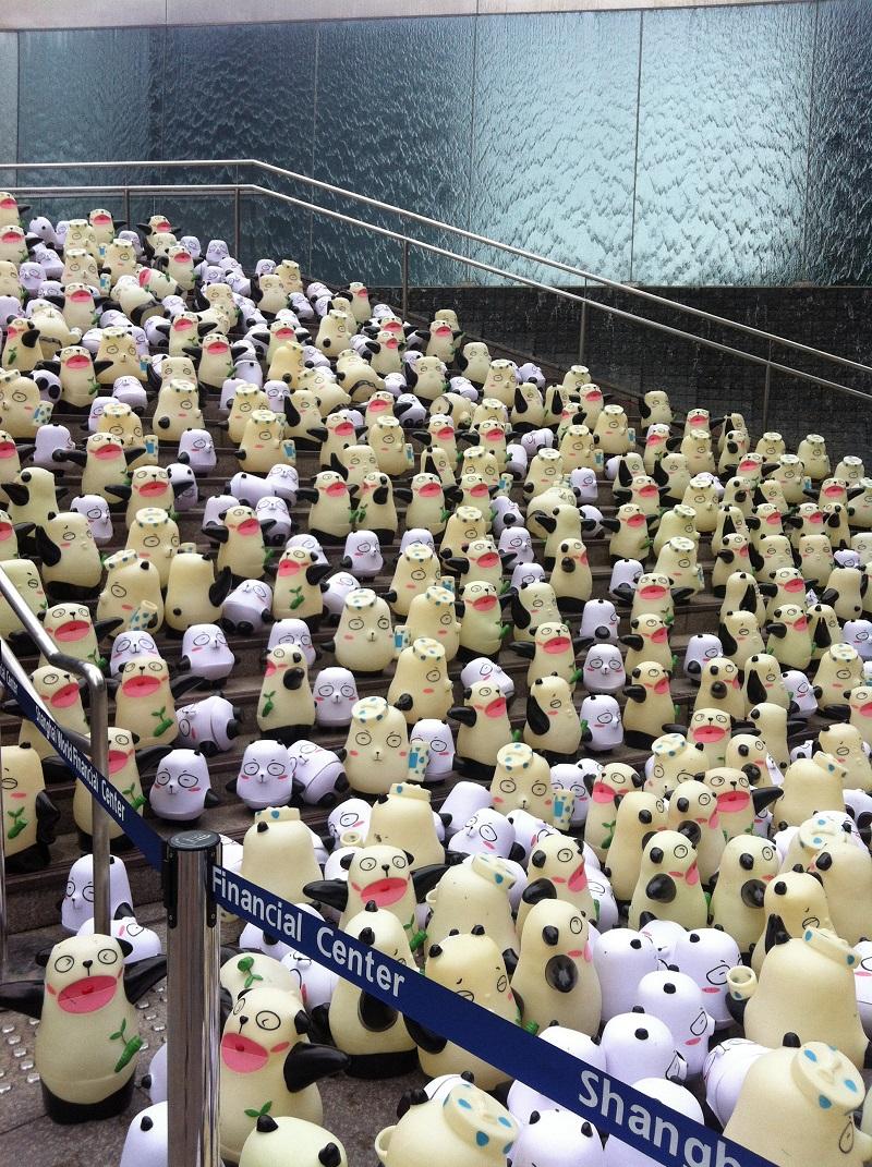 Utilisation de pandas pour promouvoir des cosmétiques en Chine