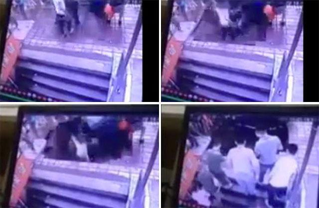 Harbin: ils sont avalés dans un trou pendant qu'ils attendaient le bus