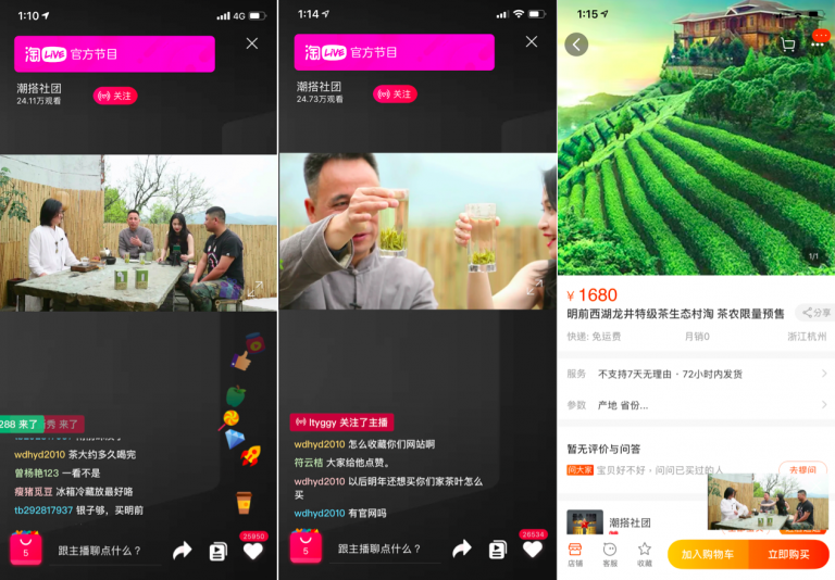 Taobao live, le renouveau du télé-shopping en Chine